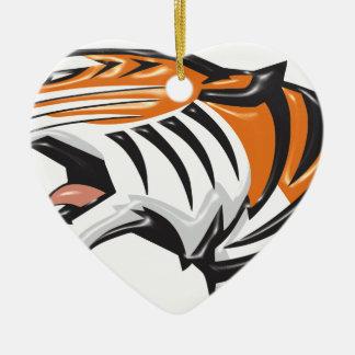 Ornement Cœur En Céramique tiger3