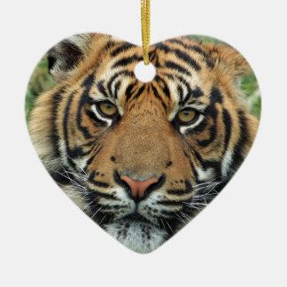 Ornement Cœur En Céramique Tigre adulte
