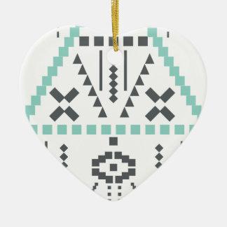 Ornement Cœur En Céramique Totem de Boho, symbole ethnique, hippie, Aztèque,