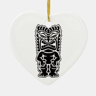 Ornement Cœur En Céramique totem de tiki