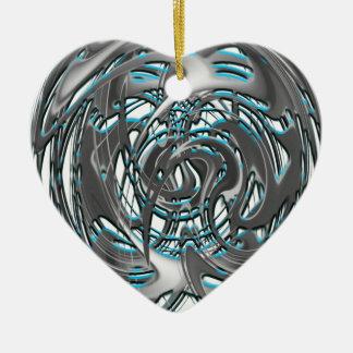 Ornement Cœur En Céramique train de groovie