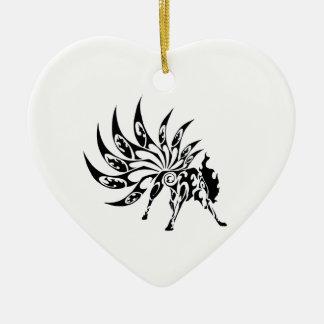 Ornement Cœur En Céramique tribal