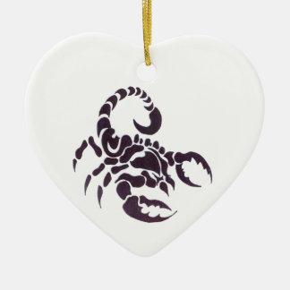 Ornement Cœur En Céramique Tribal scorpion