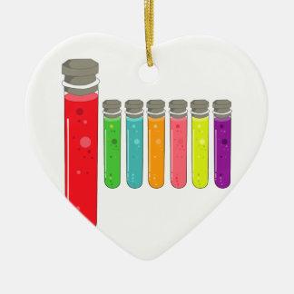 Ornement Cœur En Céramique tubes à essai