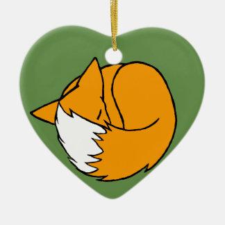 Ornement Cœur En Céramique Un Fox
