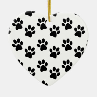 Ornement Cœur En Céramique Un sheepadoodle tient mon coeur