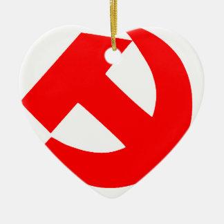 Ornement Cœur En Céramique Union Soviétique primitive CCCP de marteau et de