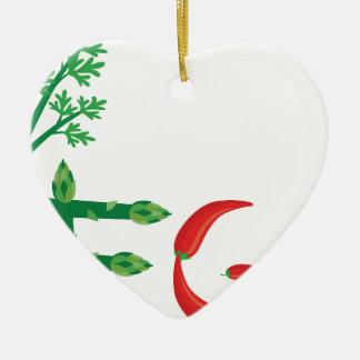 Ornement Cœur En Céramique végétalien