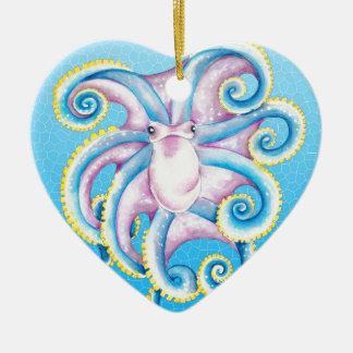 Ornement Cœur En Céramique Verre souillé de poulpe
