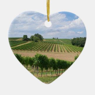 Ornement Cœur En Céramique Vineyard - Vignoble (Bordeaux - France) 04