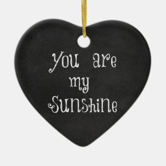 Ornement Cœur En Céramique Vous êtes mon soleil