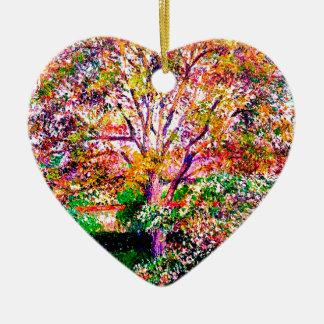Ornement Cœur En Céramique Wallnut et pommiers En fleur Camille Pissarro