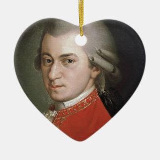 Ornement Cœur En Céramique Wolfgang Amadeus Mozart