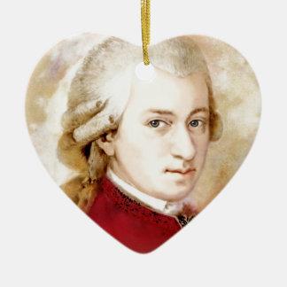 Ornement Cœur En Céramique Wolfgang Amadeus Mozart dans l'aquarelle style