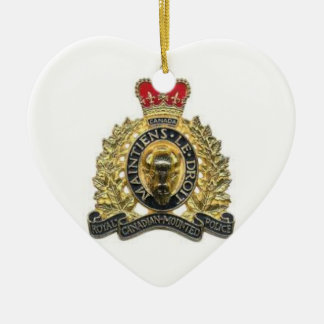 Ornement coeur heart rcmp