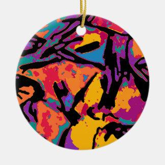 Ornement collectable de confettis colorés