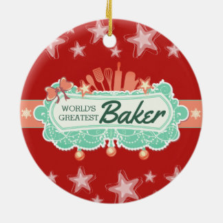 Ornement culinaire de Noël du plus grand boulanger