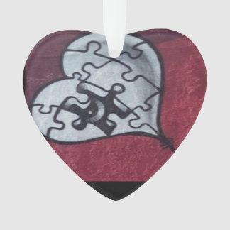 Ornement d'acrylique de conception du coeur brisé
