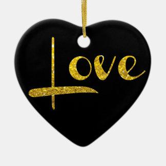 Ornement d'amour de coeur de parties scintillantes