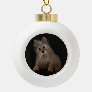 Ornement d'animal familier de vacances de Noël