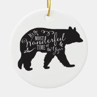 Ornement d'arbre avec l'ours