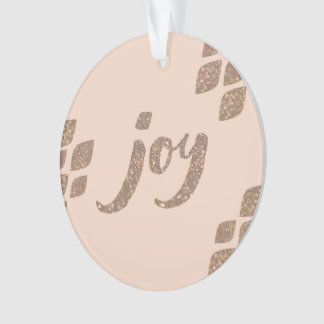 Ornement d'arbre de Noël de joie de scintillement