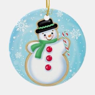 Ornement de biscuit de bonhomme de neige de