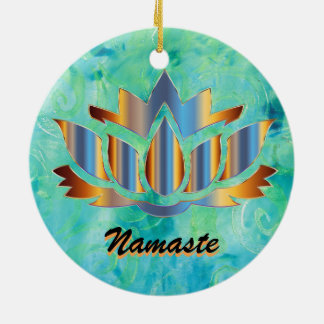 Ornement de bleu de Namaste Lotus