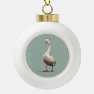 Ornement de boule d'oie de Noël