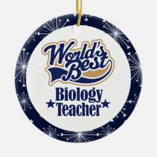 Ornement de cadeau de professeur de biologie