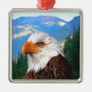 Ornement de carré de prime d'Eagle chauve