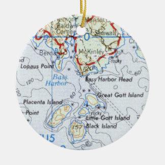 Ornement de carte d'île de Gotts