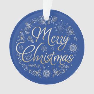 Ornement de cercle avec la conception de Noël