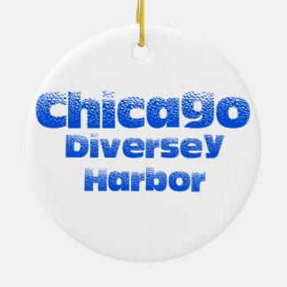 Ornement de cercle de Chicago de port de Diversey