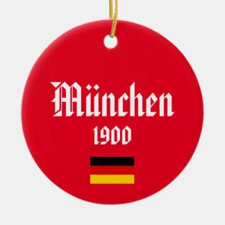 Ornement de cercle de Noël du football de Munich