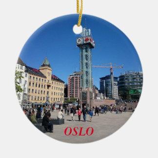 Ornement de cercle de panorama d'Oslo Norvège