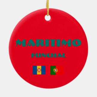 Ornement de cercle du football de Maritimo Madère