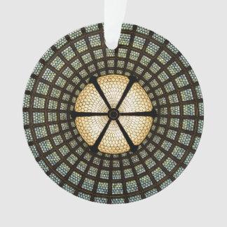 Ornement de cercle en verre souillé