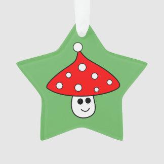 Ornement de champignon de casquette de Père Noël