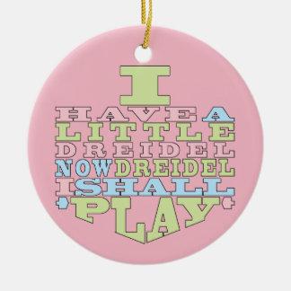 "Ornement de /Circle de jeu de Hanoukka ""Dreidel"""