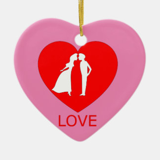Ornement de coeur d'amour