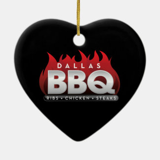 Ornement de coeur de BBQ de Dallas