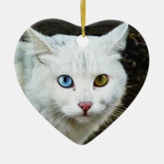 Ornement de coeur de chat