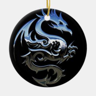 Ornement de dragon de chrome