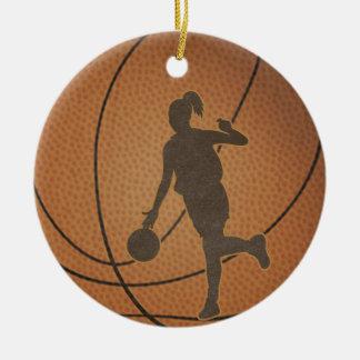Ornement de fille de basket-ball