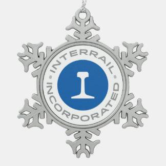 Ornement de flocon de neige d'Interrail, Inc.