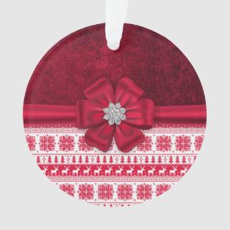 Ornement de gemme d'arc de vacances de Noël