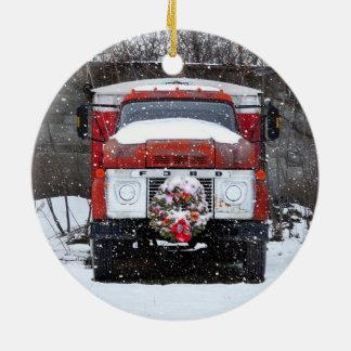 Ornement de guirlande de Noël de camion