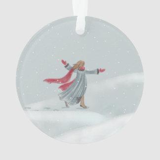 Ornement de joie de neige