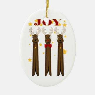 Ornement de joie de renne de Noël